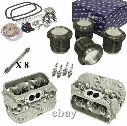 1600cc Air-cooled Vw Engine Rebuild Kit, Top End Heads And Pistons
