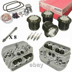 1776cc Air-cooled Vw Engine Rebuild Kit, Top End GTV-2 Heads And Mahle Pistons