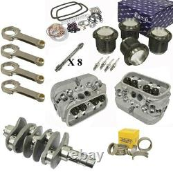 1914cc Air-cooled Vw Engine Rebuild Kit, 69mm Crank GTV-2 Heads And Pistons