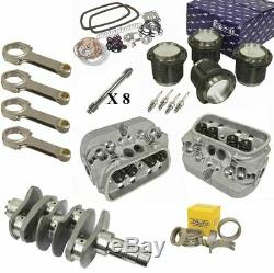 2180cc Air-cooled Vw Engine Rebuild Kit, 82mm Crank GTV-2 Heads And Pistons