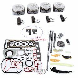 ENGINE OVERHAUL REBUILD KIT With GASKETS FIT FOR VW Golf GTI JETTA TIHUAN AUDI A4
