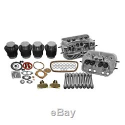 Vw 1600 Dual Port Top End Rebuild Kit, Stock 85.5 With Stock Heads